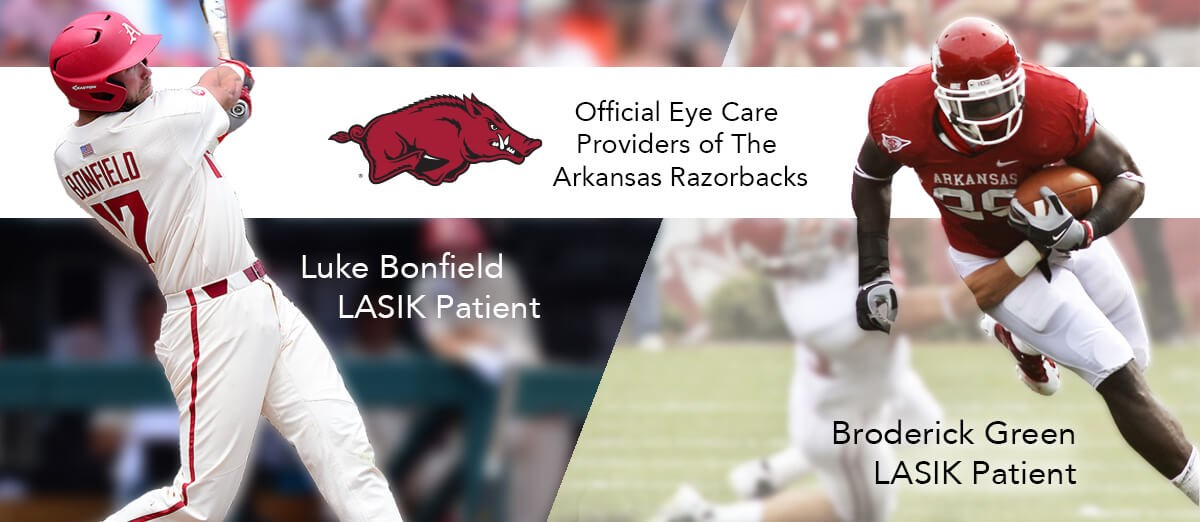 Official Eye Care Provider of the Razorbacks -